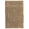 Rug Expressions Flat Weave Ivory/Dark Brown Area Rug