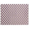 Rug Expressions Flat Weave Electric Purple/White Area Rug