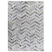Rug Expressions Natural Hide White/Silver Area Rug