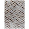 Rug Expressions Natural Hide White/Brown Area Rug