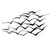 EC World Imports Urban Handcrafted Flock of Birds Metal Art Wall Décor