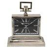 EC World Imports Barnes High Street Classic Square Table Clock