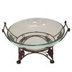 EC World Imports Urban Nature's Cradle Decorative Bowl with Metal Stand