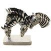 EC World Imports Grazing Zebras Table Sculpture