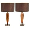 """EC World Imports Urban 25"""" Table Lamp with Drum Shade (Set of 2)"""