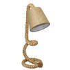 """EC World Imports Urban Nautical Twisted Rope Pier 29"""" Table Lamp with Empire Shade"""
