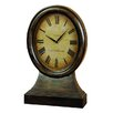 EC World Imports Antique Replica Just On Time London England Large Wood Table Clock