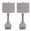 """EC World Imports Urban 29"""" Table Lamp with Drum Shade (Set of 2)"""