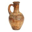 EC World Imports Porto Fino Distress Terra Cotta Art Urn Ceramic Vase