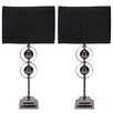 "EC World Imports Casa Cortes Loft Obsession 25"" H Table Lamps with Rectangular Shade (Set of 2)"