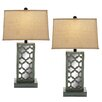 """EC World Imports Urban Designs 28"""" H Table Lamp with Rectangular Shade (Set of 2)"""