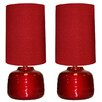 "EC World Imports Urban Designs 23"" H Table Lamp with Drum Shade (Set of 2)"