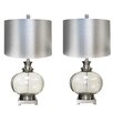 """EC World Imports Urban Designs Talia 28"""" H Table Lamp with Drum Shade (Set of 2)"""