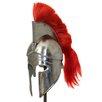 EC World Imports Antique Replica Corinthian Red Plume Armor Helmet