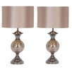 """EC World Imports Urban Designs 25"""" Table Lamp with Drum Shade (Set of 2)"""