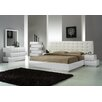 J&M Furniture Milan Platform Customizable Bedroom Set
