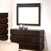 J&M Furniture Knotch 6 Drawer Dresser with Mirror