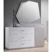 J&M Furniture Florence 3 Drawer Dresser with Mirror