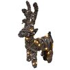 LED Deer Garden Art - Size: 16 inch High x 9 inch Wide x 4 inch Deep - Fantastic Craft Garden Statues and Outdoor Accents