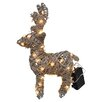 LED Deer Garden Art - Size: 14 inch High x 9 inch Wide x 4 inch Deep - Fantastic Craft Garden Statues and Outdoor Accents