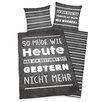 Herding Heimtextil Bettwäsche-Set Sprüche