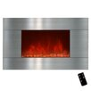 Golden Vantage Stainless Steel Wall Mount Electric Fireplace