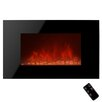 Golden Vantage Piano Black Wall Mount Electric Fireplace