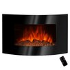 Golden Vantage Curved Glass Wall Mount Electric Fireplace