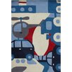 Art for kids Hand-Tufted Blue/Red Area Rug