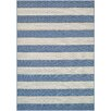 Couristan Afuera Yacht Club Cornflower / Ivory Indoor/Outdoor Area Rug