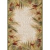 Couristan Covington Sand Multi Tropic Garden Indoor/Outdoor Rug