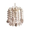 Loxton Lighting Fountain 1 Light Crystal Pendant