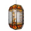 Loxton Lighting Patterned Glass Moroccan Lantern Pendant