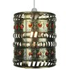 Loxton Lighting Moroccan 1 Light Drum Pendant