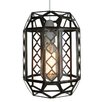 Loxton Lighting Plain Clear Glass Lantern Pendant