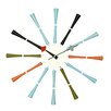 "Stilnovo 20"" Spindle Multicolor Wall Clock"