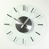 "Stilnovo 16"" Mid Century Glass Wall Clock"