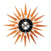 "Stilnovo 19.4"" Sunburst Wooden Wall Clock"