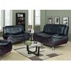 Beverly Fine Furniture Linda Leather Sofa and Loveseat Set