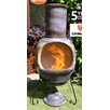 Gardeco Asteria Metal and Clay Wood Chiminea