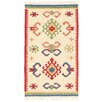 Loloey Kilim Nomad Hand-Woven Beige Area Rug