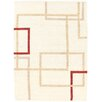 Loloey Kilim Paris Hand-Woven Beige and Tortora Area Rug