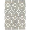 Loloey Handgewebter Teppich Kilim Sienna in Grau