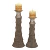 Cole & Grey 2 Piece Candle Holder Set