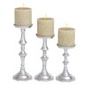 Cole & Grey 3 Piece Aluminum Candlesticks Set