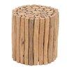 Cole & Grey Teak Wood Stool