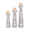 Cole & Grey 3 Piece Candle Holder Set