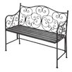 Cole & Grey Metal Entryway Bench