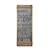Cole & Grey Metal Rope Wall Sign Wall Décor