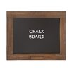 Cole & Grey Wooden Frame with Chalkboard, 2' H x 2' W